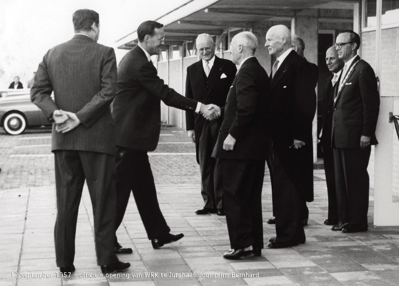 12 september 1957 – Officiële opening van WRK te Jutphaas door prins Bernhard