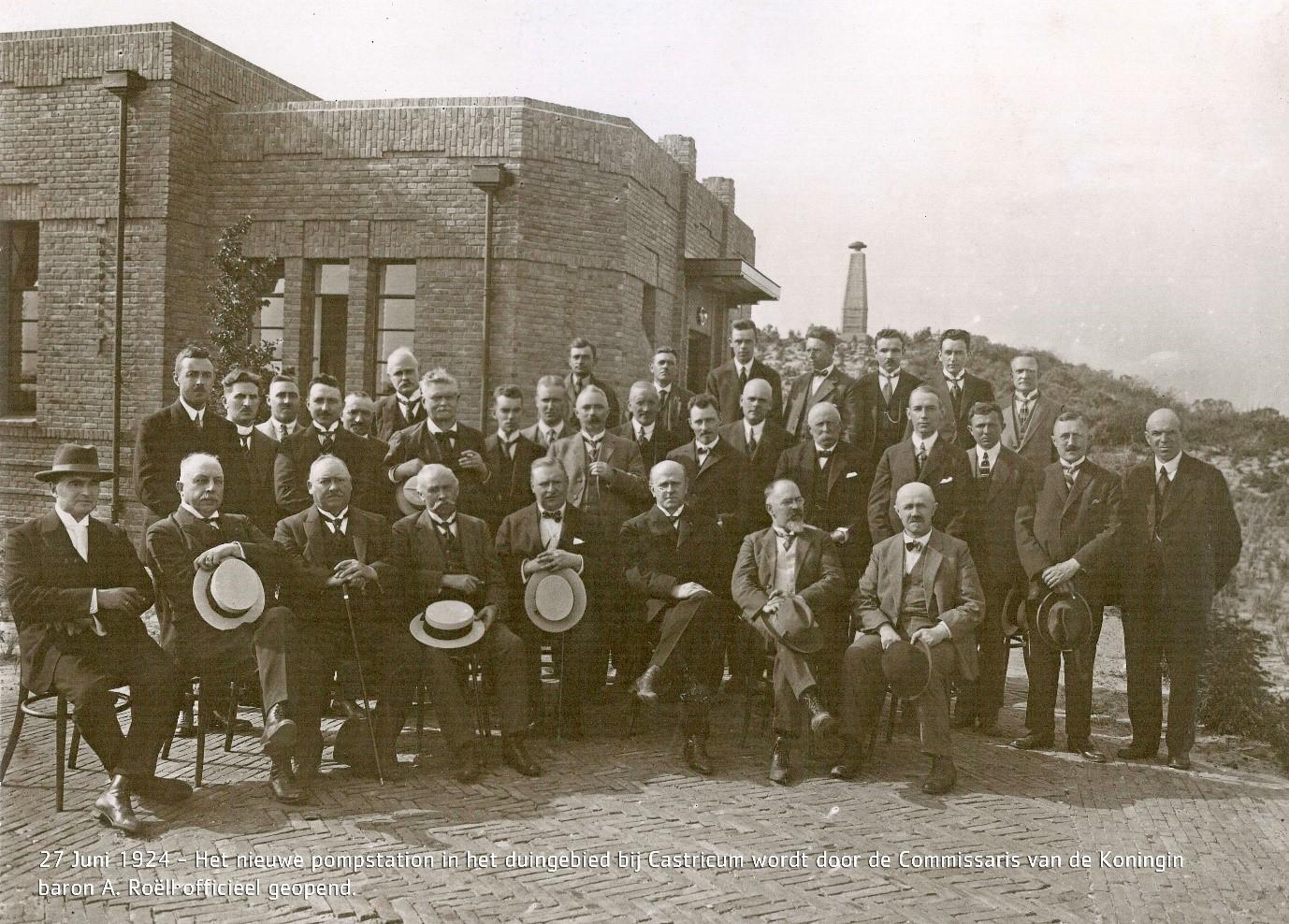 Eerste drinkwaterpompstation in Castricum 27 juni 1924