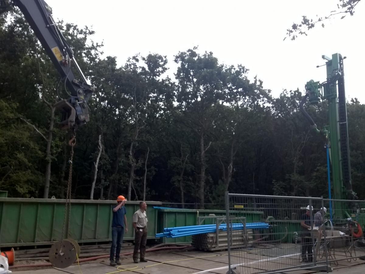 Werkzaamheden aan de drinkwaterputten in het duin