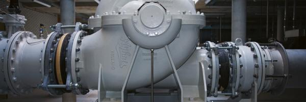 Pompinstallatie in drinkwaterproductiebedrijf Heemskerk