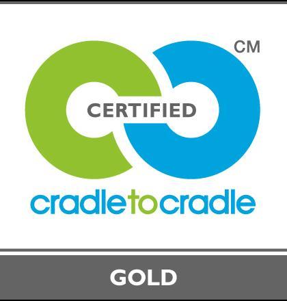 Cradle 2 Cradle logo Gold voor kalkkorrels PWN - recyclen