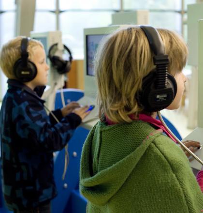 De Hoep Kinderen bij vaste tentoonstelling