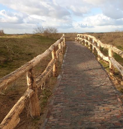 Foto van de trap bij de Papenberg in Castricum