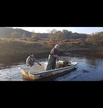 vissers in de poel