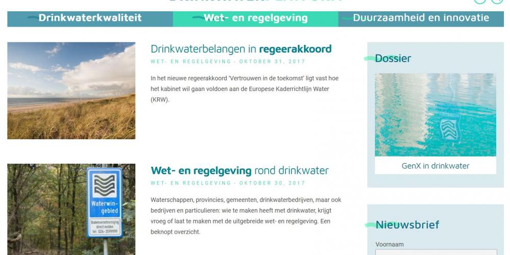 screenshot drinkwaterplatform