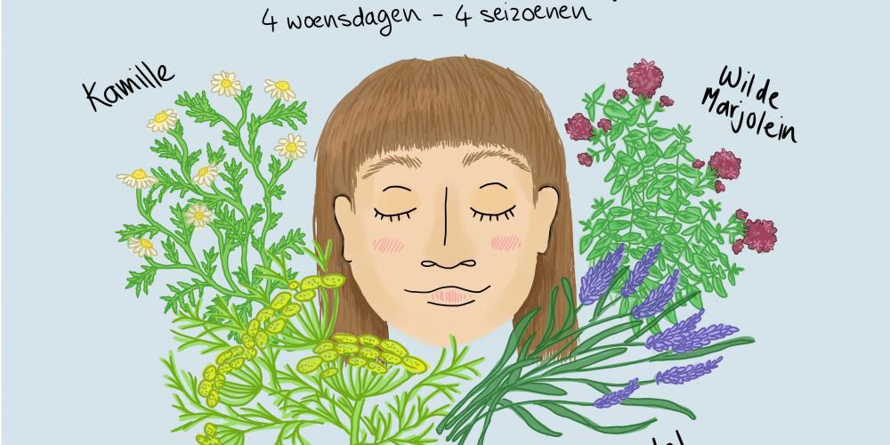 illustratie wilde planten en kruiden