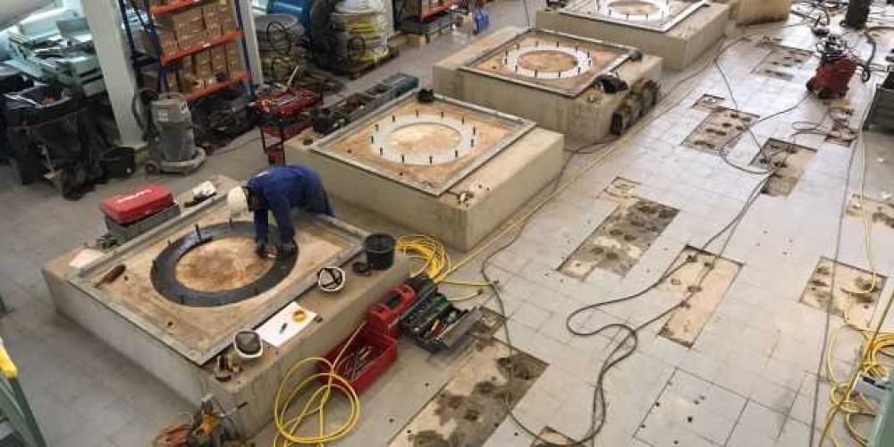 werkzaamheden in pompstation Hoofddorp