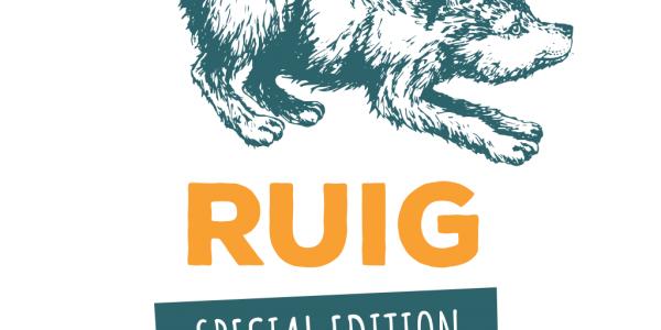 Tekening Wolf aankondiging kinderactiviteit van organisatie Ruig Haarlem